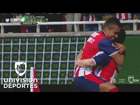 Marco Bueno anota el 2-1 y Chivas ya vence a Cruz Azul
