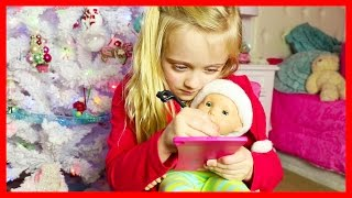 American Girl Bitty Baby Doll & Play Doh Girl Write Christmas Letter to Santa on New Boogie Boards