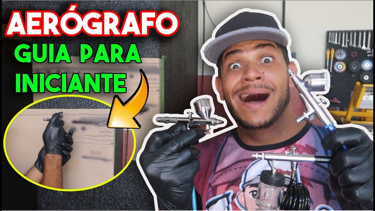 APLICAÇÃO DE TINTA  REGULAGEM E LIMPEZA EM AERÓGRAFO - MICRO PINTURA PASSO A PASSO!!!