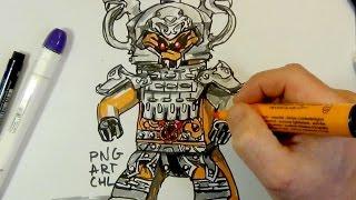How to Draw Commander Raggmunk#Lego#NINJAGO#step by step
