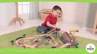 Kidkraft treinbaan met houten rails