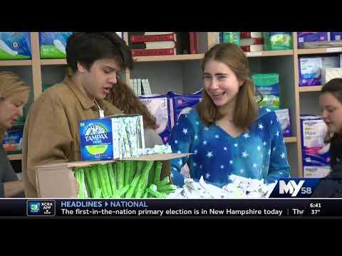 Sacramento Waldorf School - Homeless Period Project - KCRA 02/11/2020 6am