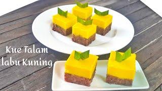 Resep Kue Talam Labu Kuning Ketan Hitam Youtube