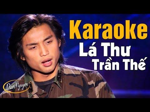 Karaoke Lá Thư Trần Thế - Đan Nguyên | Beat Chuẩn Tone Nam