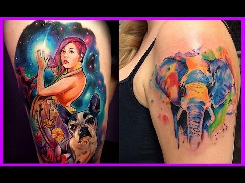 Los Mejores Tatuajes A Colores Tatuajes Coloridos Youtube