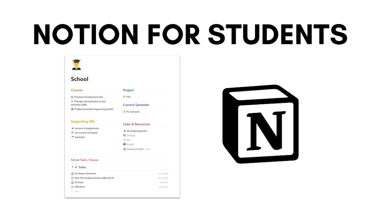 How to Stay Organized for School with Notion | Notion for Students