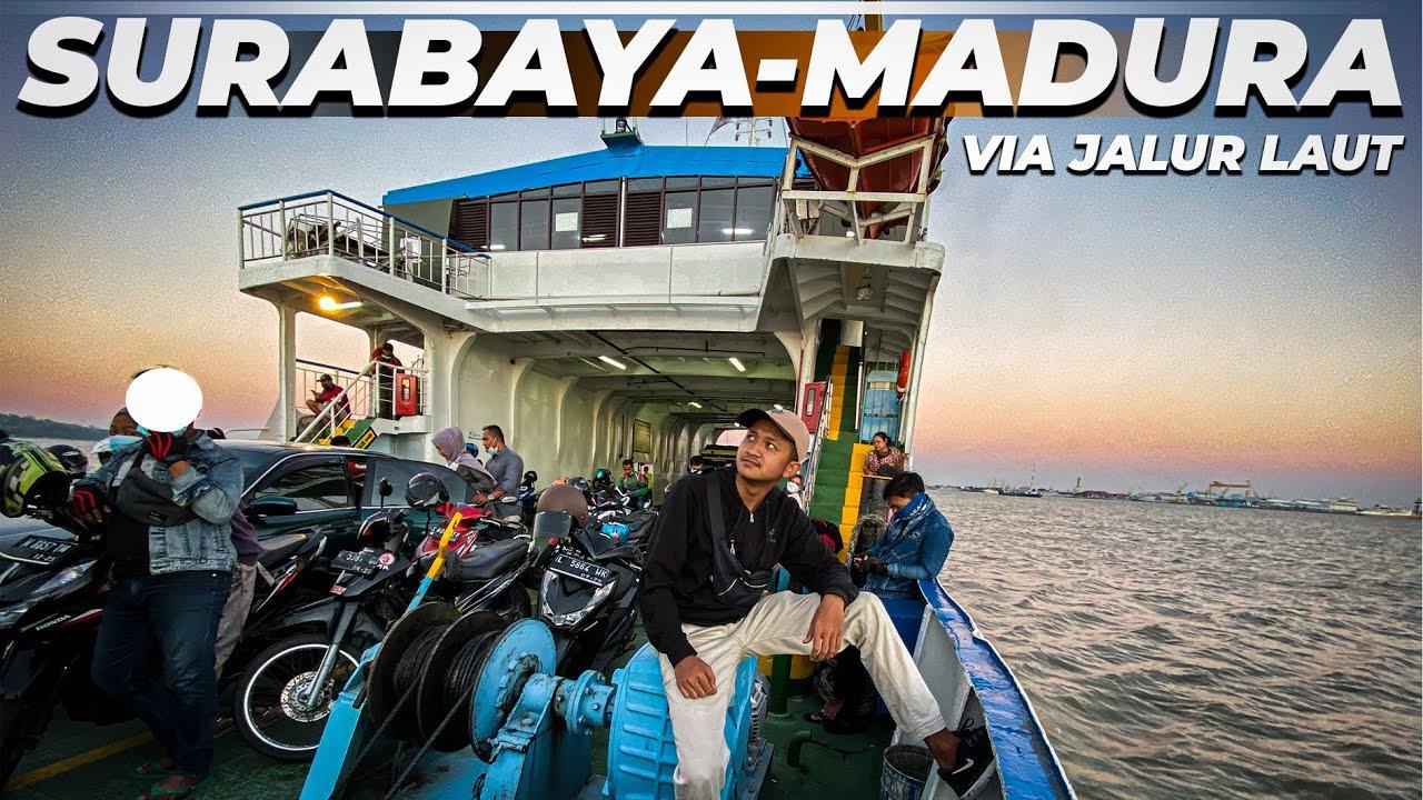 SEDIH , Begini Kondisi Penyebrangan Kapal Ferry Surabaya - Madura Setelah ada jembatan Suramadu .