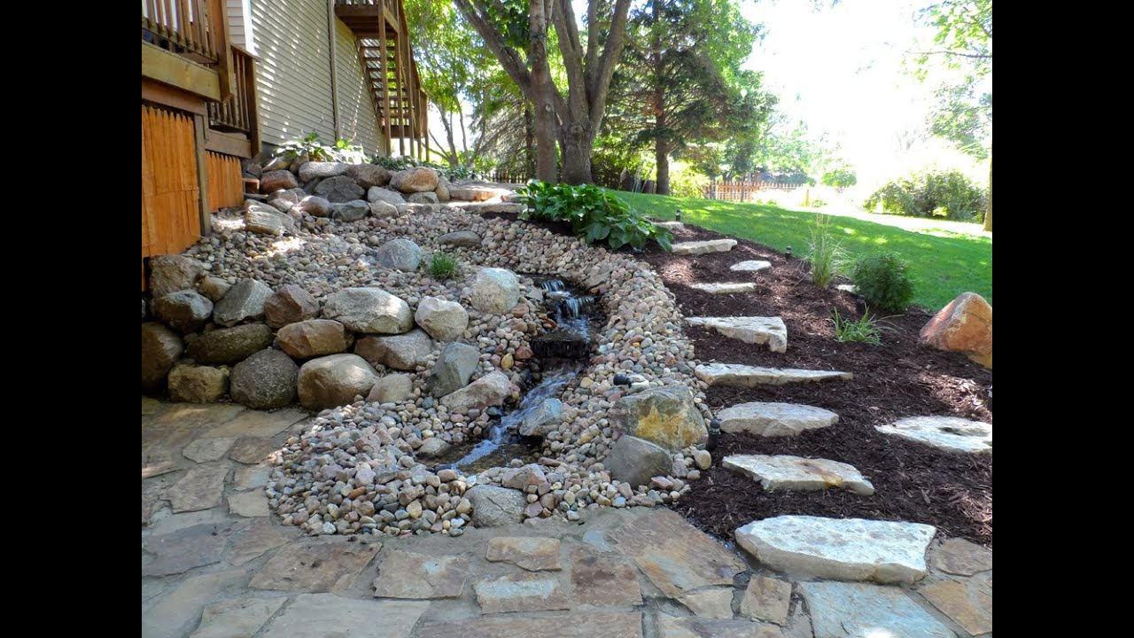 Simple water feature ideas for small garden youtube for Simple small garden