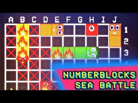 Sea Battle w/ Numberblocks - Animated Pixel Game  