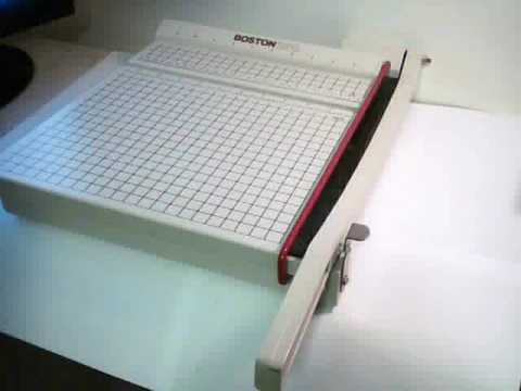 Instructions For Boston 2612 Paper Cutter Blades