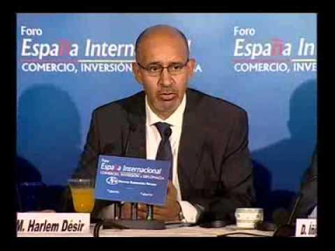 Forum International Espagne avec Harlem Désir