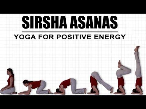 yoga for positive energy  sirsha asanas  youtube