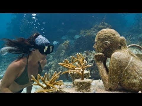 연인들의 버킷리스트 멕시코 칸쿤의 수중 박물관