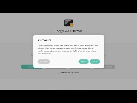 LEDGER NANO S | What Is Bitcoin Cash Main & Bitcoin Cash Split | How To Split BCH & BTC In 2 Wallets