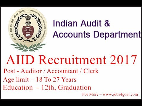 All India Vacancy - IAAD Recruitment 2017, Auditor / Accountant / Clerk, Apply Offline 30.07.2017