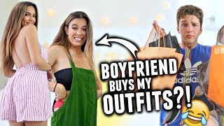 BOYFRIEND BUYS OUTFITS FOR GIRLFRIEND! Clothes Shopping Challenge 2017!