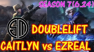 TSM Doublelift Caitlyn vs Ezreal / Solo Ranked game【LOL NA】【Pro replay game】