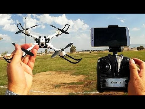 Eachine E53 Foldable FPV Drone with Controller Flight Test Review