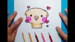 Como dibujar un cerdo paso a paso 7 | How to draw a piglet 7