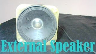 DIY external speakers
