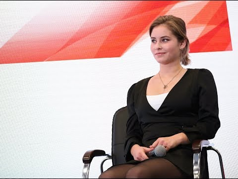 "Yulia Lipnitskaya in Interactive session on ""Promotion of sport content amongst the youth"" 2017"