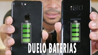 IPHONE 7 PLUS VS SAMSUNG GALAXY S8 PLUS DUELO BATERIAS