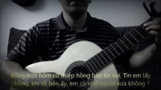 DOI MAT NGUOI XUA (Quang Le) - [Guitar solo] [K'K]
