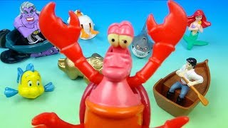 1996 Disney's The Little Mermaid set of 8 McDonalds Happy Meal Kids movie Toys Video Review