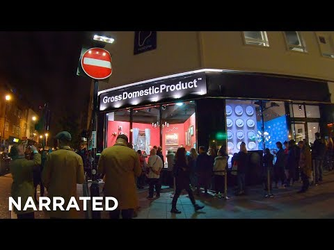 ⁴ᴷ Walking London (Narrated) - Banksy's Gross Domestic Product Shop From East Croydon Station