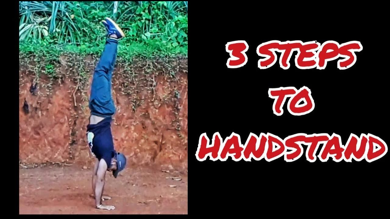 💪MASTERING THE HANDSTAND 🤩 EASY 💥 IN THREE STEPS