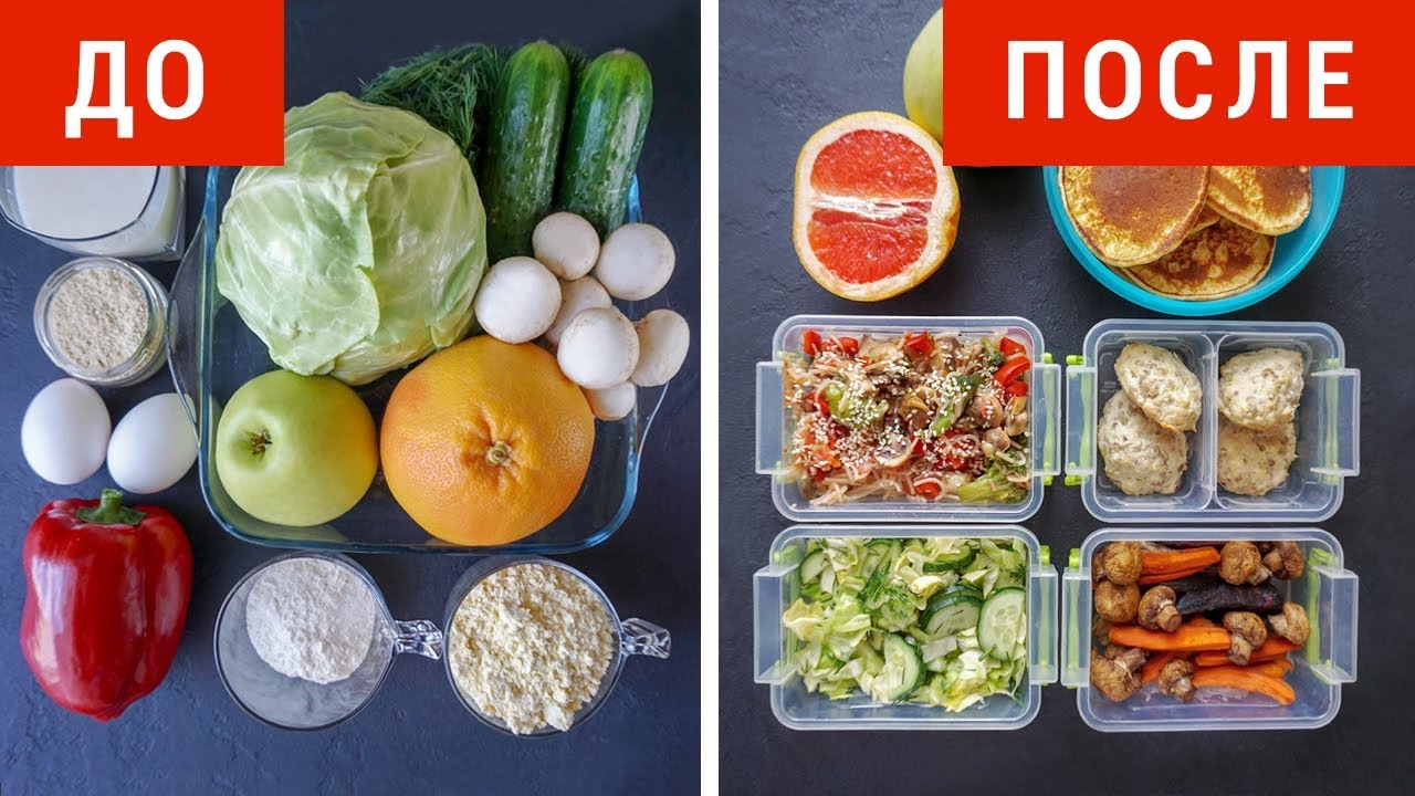 меню еды для похудения