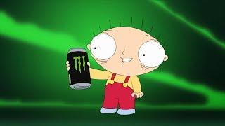 Stewie drink Monster Energy