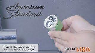 How To Replace A Leaking Kitchen Faucet Cartridge Youtube