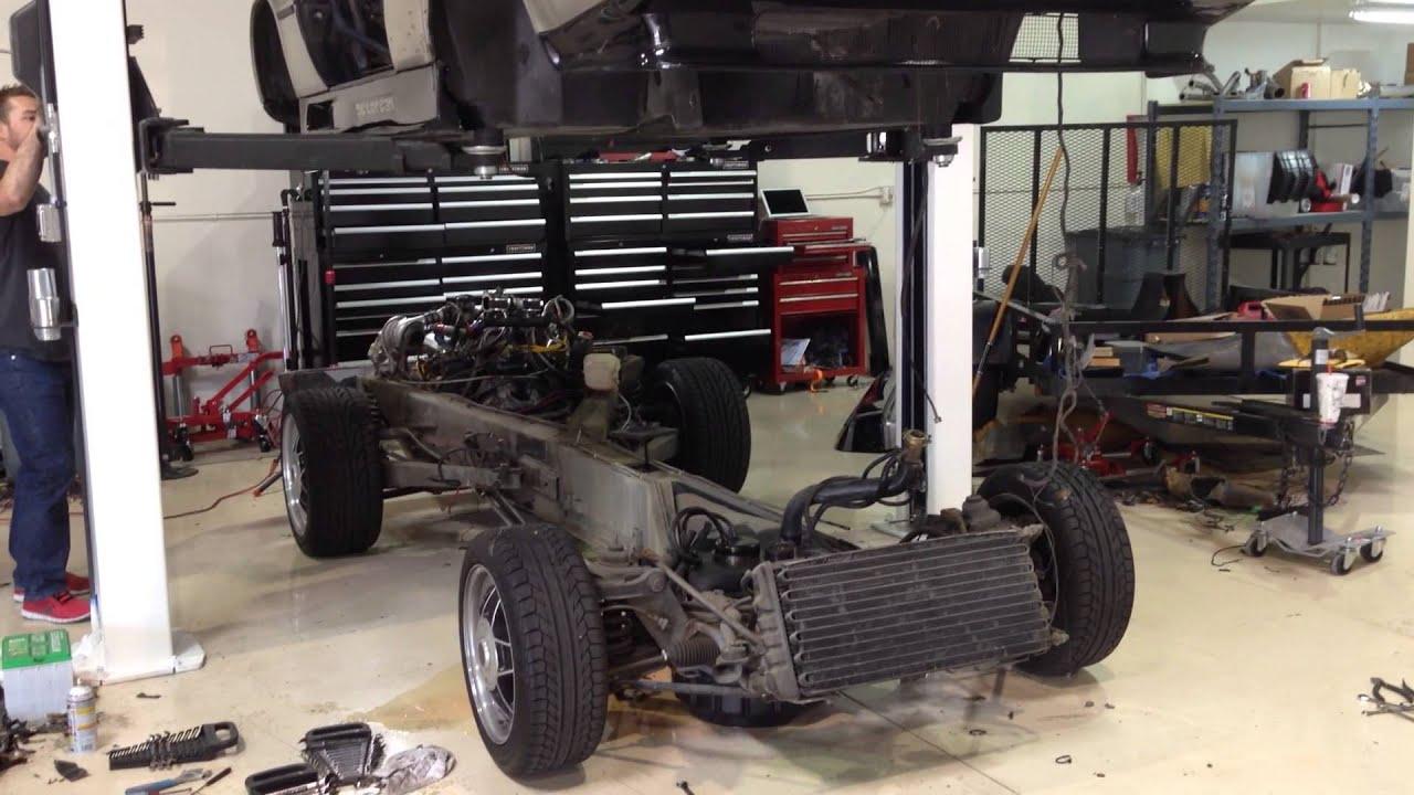 delorean body chassis separation