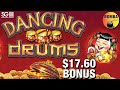 🥁 Dancing Drums 🥁 up to $17.60 Bets + Bonus But is it Enough!? Chasing Jackpots at Wynn Casino
