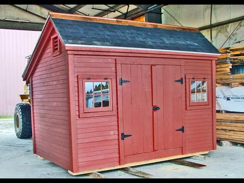 chrurch st 8x12 salt box backyard storage shed vermont post and beam