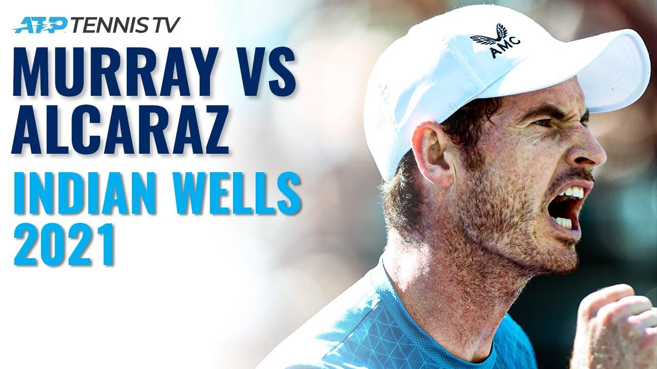 Andy Murray vs Carlos Alcaraz THRILLER   Indian Wells 2021 Highlights