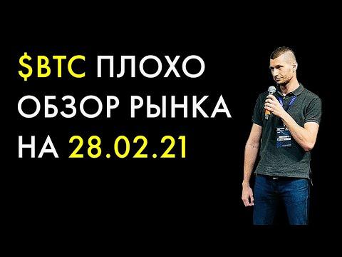 Биткоин прогноз на 28 февраля 2021, анализ курса Bitcoin сегодня, BTC обзор и аналитика