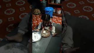funny cute baby cooking food and he is call mummy baba