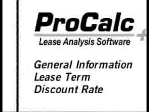 ProCalc 06 - Entering Data: General Info, Lease Term, Discount Rate