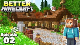 Better Minecraft : Staŗter Animal Barn! Ep 2 Minecraft Survival Lets Play