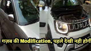 गज़ब की Modification ⚡ Wagon R CNG Model AUTO FOLDING SIDE MIRROR ⚡ IGNIS SUPER MODIFICATION