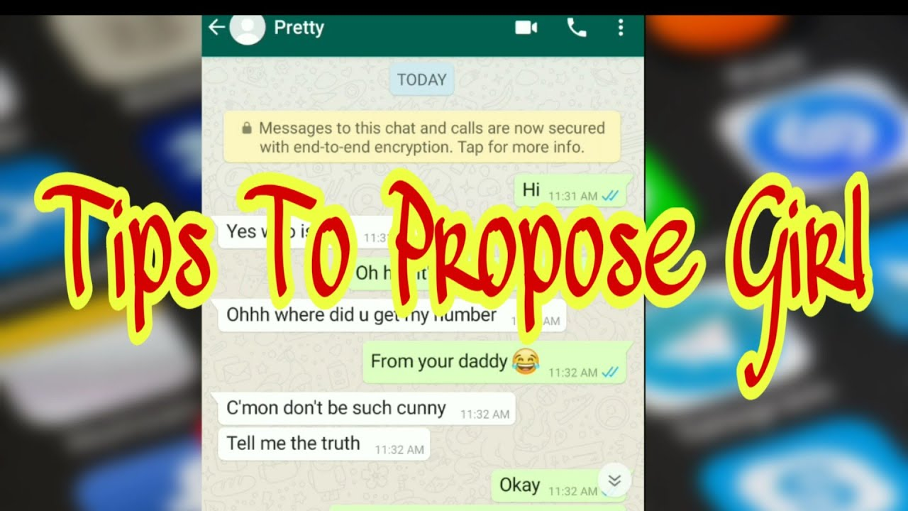 Tips to propose girl on Chat | WhatsApp chats with crush