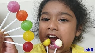 Pre School Toddler Ishfi Learning Color Song with Yummy Lollipop