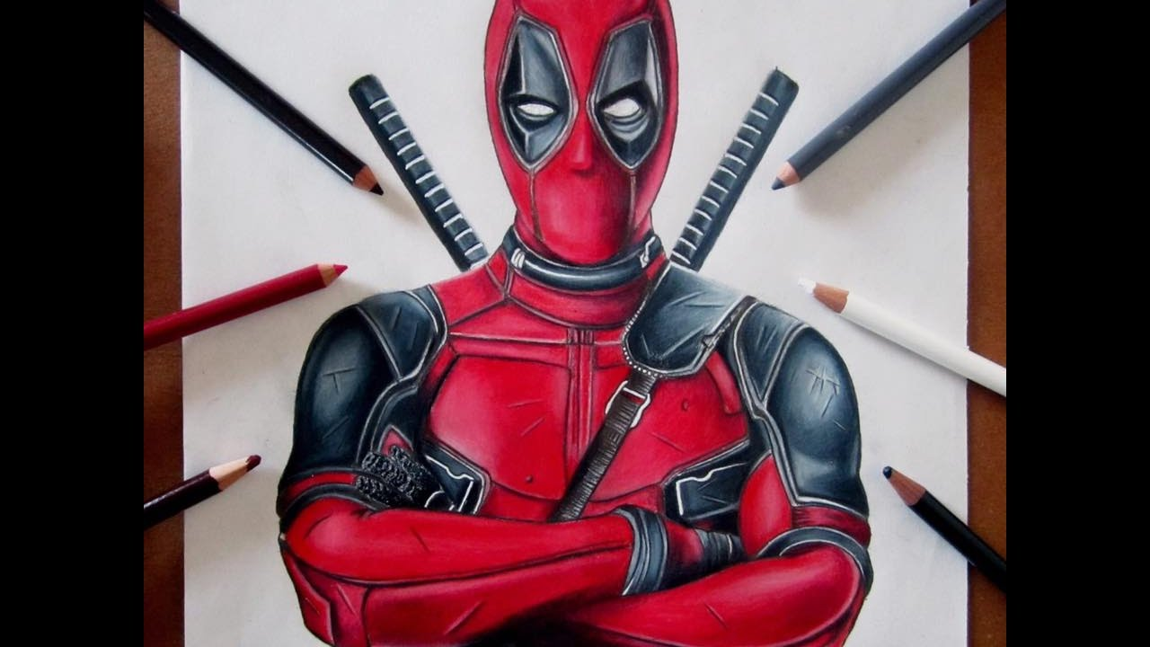 Dibujos De Deadpool: Deadpool Colored Drawing
