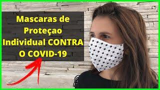 Máscaras de Proteção Individual CONTRA COVID-19 Mascara de Proteção Respiratória - ANTI-CORONAVÍRUS