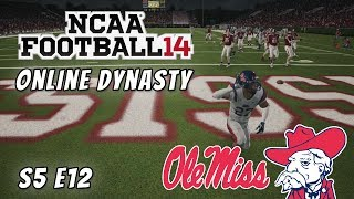 NCAA Football 14 : Online Dynasty : Ole Miss Rebels : S5 E12 : Week 14 vs Mississippi State Bulldogs