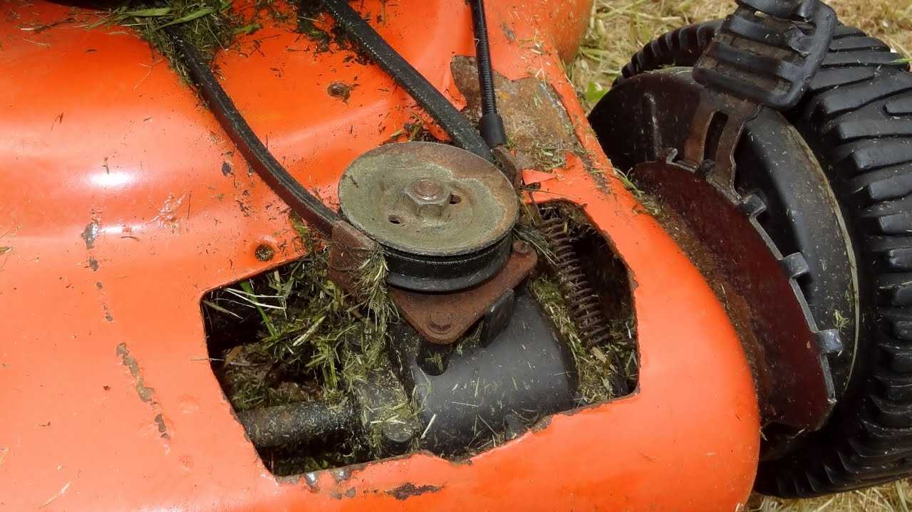 small resolution of fixing the front wheel drive on a husqvarna r 53sv self propelled lawn mower