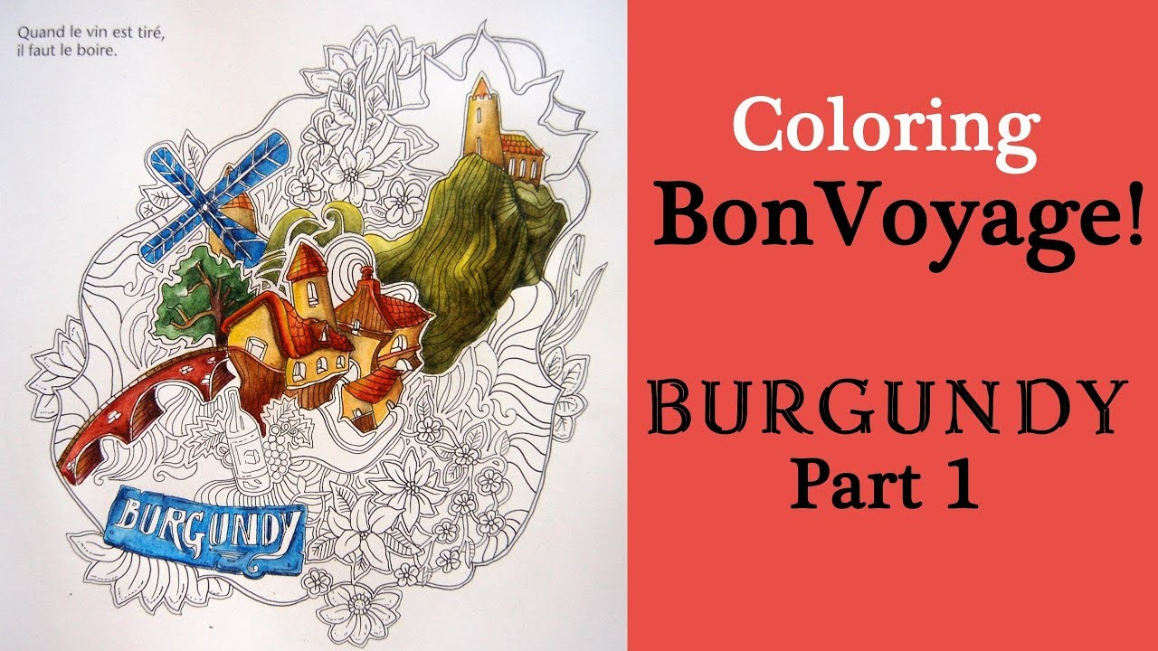 Coloring Burgundy From Bon Voyage Part 1 Derwent Inktense Pencils