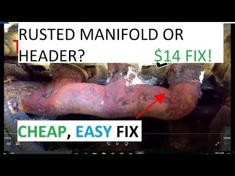 Exhaust Manifold Repair THE #1 FIX! CHEAP EASY no tools required
